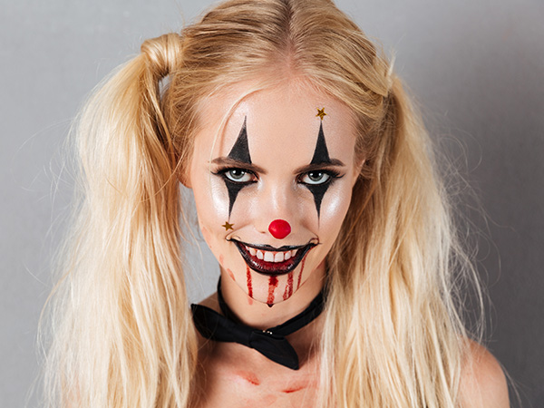 make up donna halloween pagliaccio diabolico